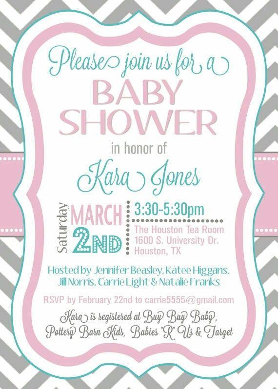 28 best Shower invitation ideas images on Pinterest Invitation - baby shower samples