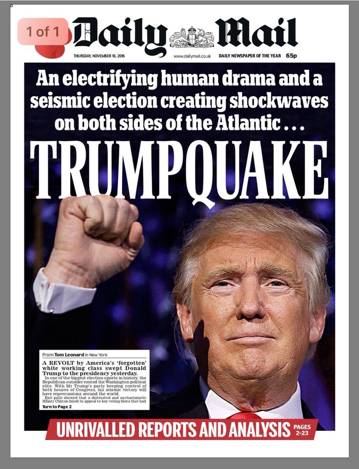 """NEW STATESMAN: The Trump Apocalypse #tomorrowspaperstoday"""