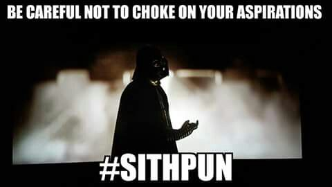 I don't know if I consider this clever or a bit cheesy, but, nevertheless, if it's coming from Vader, then it's awesome.