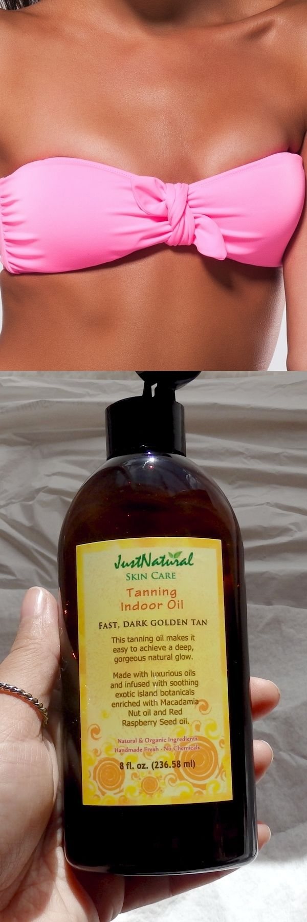 Just Natural Skin Care Indoor Tanning Oil