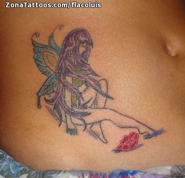 Tatuaje de Hadas, Fantasía, Barriga
