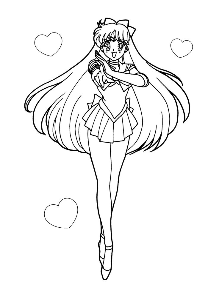 Coloring page sailormoon coloring pages 7 Sailor Moon