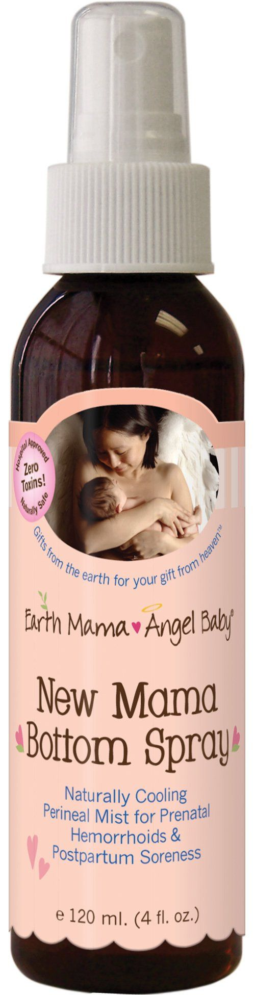 Earth Mama Angel Baby - New Mama Bottom Spray, 4 fl oz liquid
