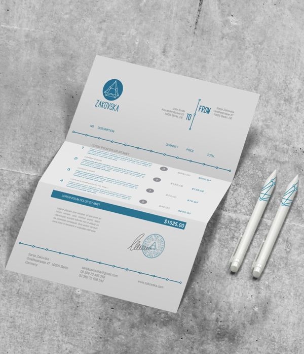 Tax Return Deductions Without Receipts Word  Best Templates  Invoices Images On Pinterest  Invoice Design  Invoice Tracking Software Pdf with Average Cost To Process An Invoice Pdf Invoice Design See More Zakovska By Sanja Zakovska Via Behance Sales Receipt Template Word Pdf