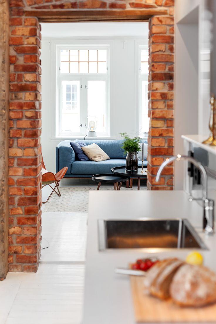 Brickwall, kitchen. Architect/designer, Lisa Wettsjö+Gustav Wettsjö