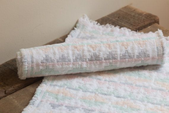 Pair of Pastel Woven Southwestern Placemats