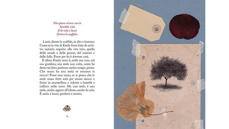 La cena del cuore. Tredici parole per Emily Dickinson, text by Beatrice Masini and illustrations by Pia Valentinis, published by rueBallu | Phileas Fogg Agency