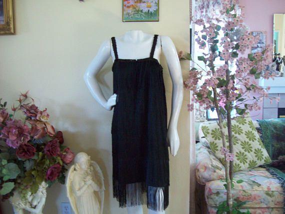 Black Flapper Dress 1920s Style Black Flapper Dress 1920s