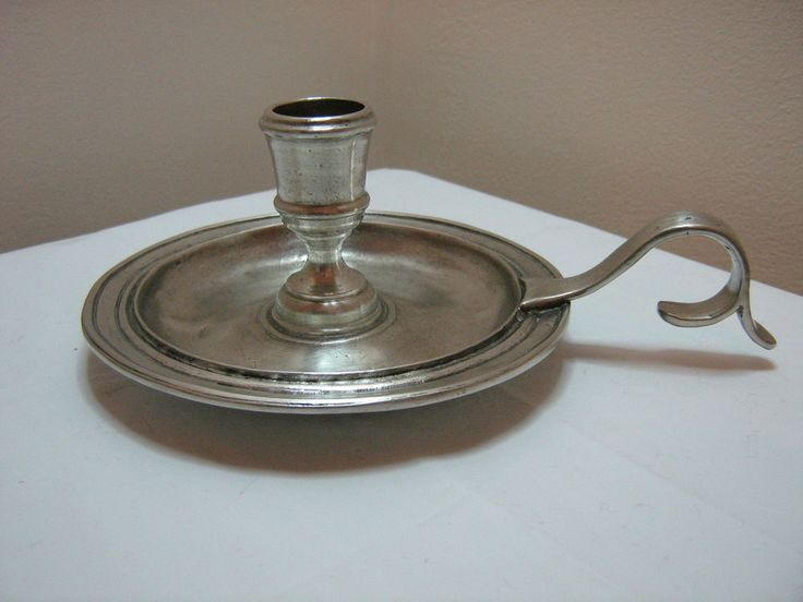 GT279 Pewter Candle Holder approx. 6.5cm Tall, traditional, aged finish