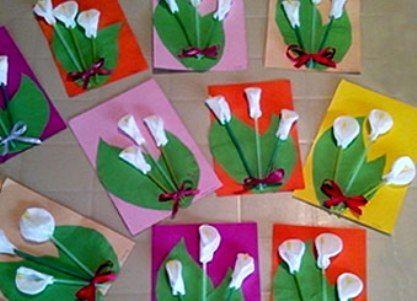 цветы из ватных дисков фото 6