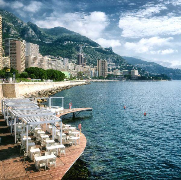 Luxus Beach Bar und Terrasse auf dem Monacco Life Club - #Gartenmöbel