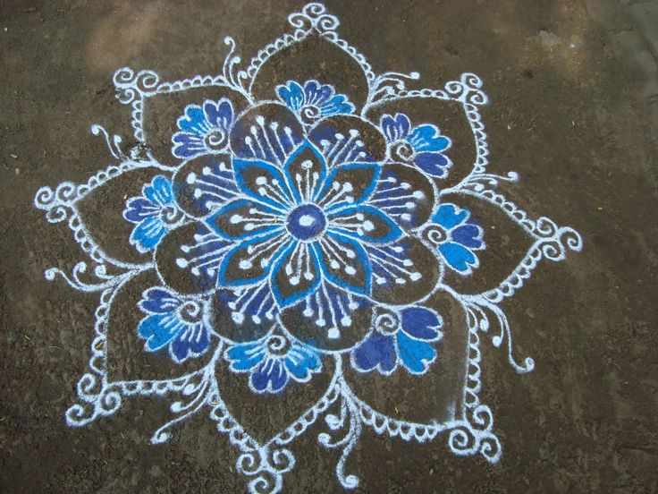 Simple and Spaced out Rangoli