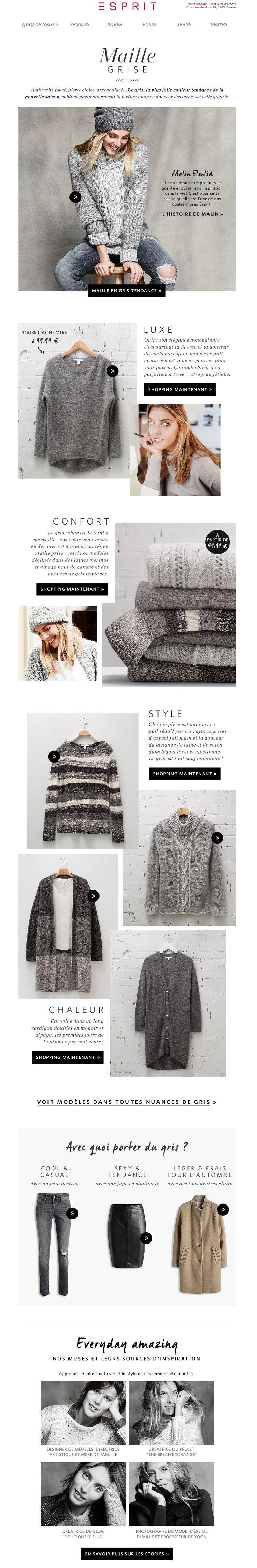 Esprit Newsletter | Grey Knitwear