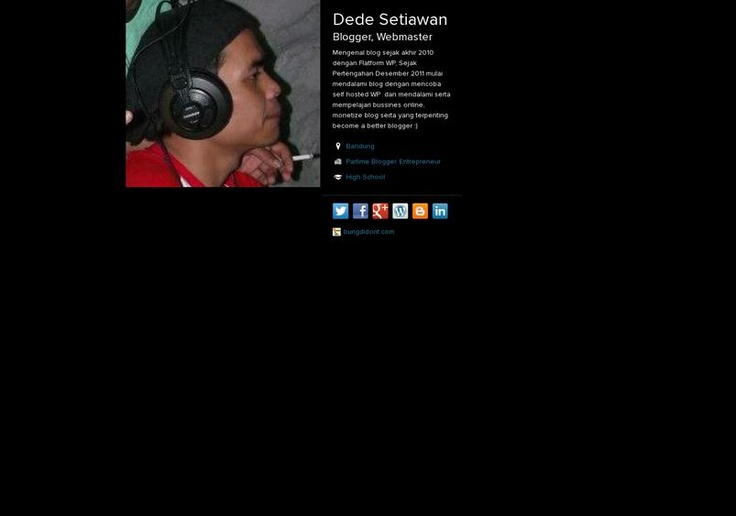 Dede Setiawan's page on about.me – http://about.me/ayahnieda