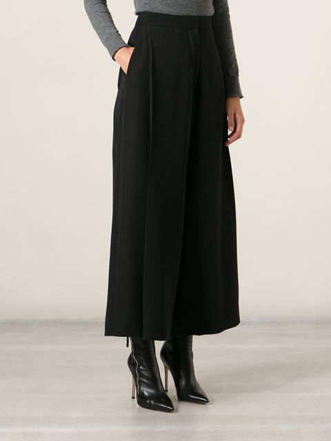 Cedric Charlier Wide-leg Cropped Trousers - Smets - Farfetch.com