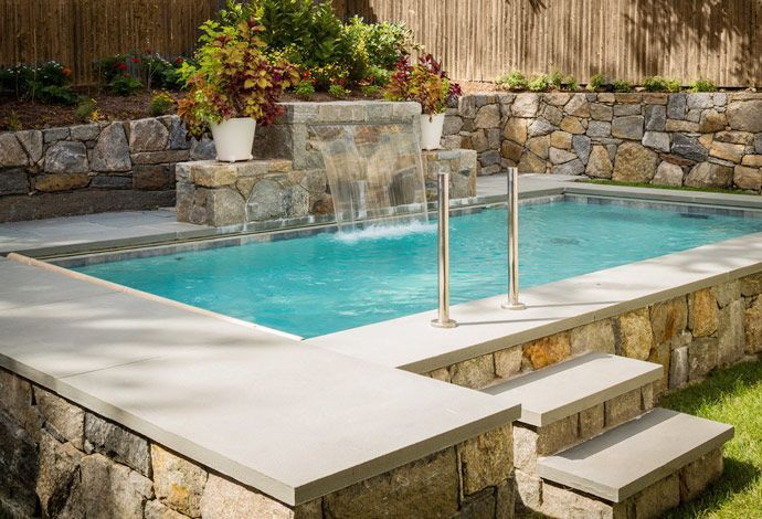 25 best ideas about semi inground pools on pinterest - Small space swimming pools ...