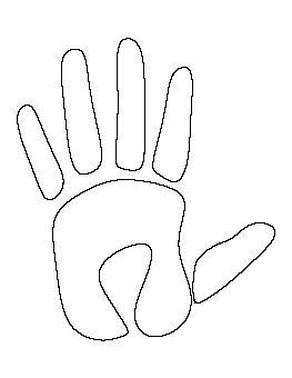 Handprint Pattern Paper Art Stencils, Free shapes, Pattern