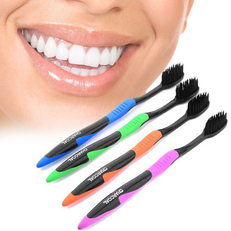 2017 Hot Sale 4pcs/lot Bamboo Charcoal Toothbrush Nano Professional Adults Toothbrush Dental Care Soft Charcoal Brush Oral Care