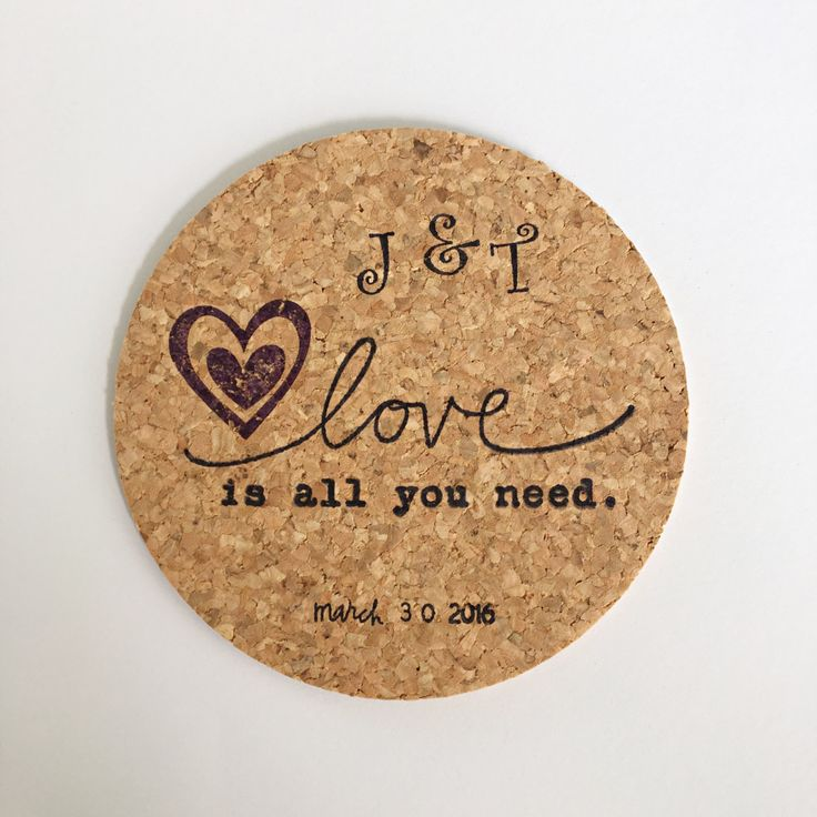 100 Love Is All You Need Wedding Favors l Personalized Wedding Favor Coasters l…