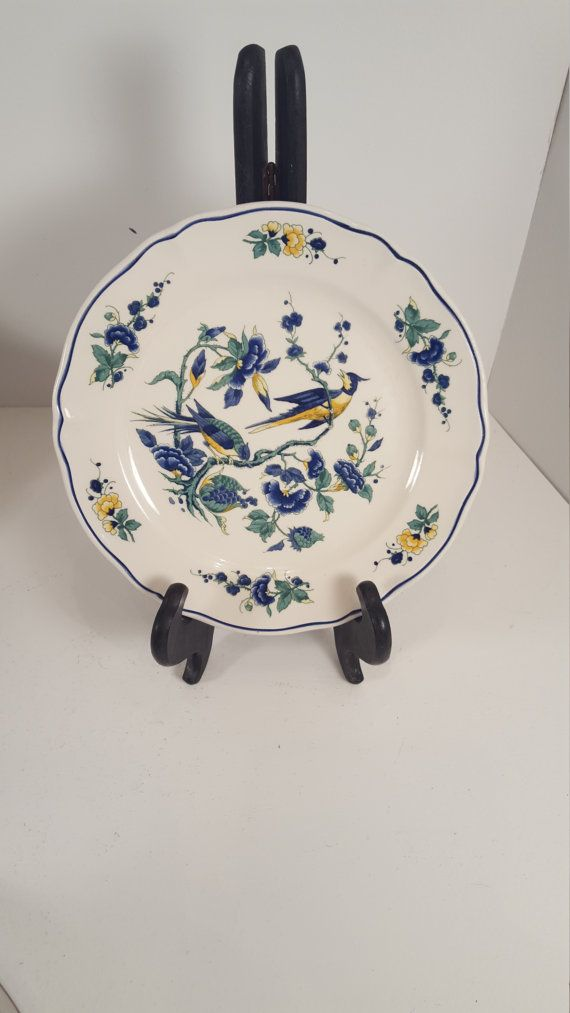 Villeroy and Boch; Phoenix Blau; Vintage; Mint condtion plate