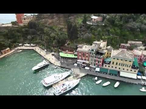 Portofino Italy from a Drone.