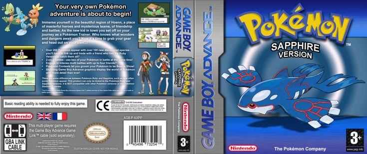 Pokemon Sapphire Custom Cover Art by TotoroMatt on DeviantArt