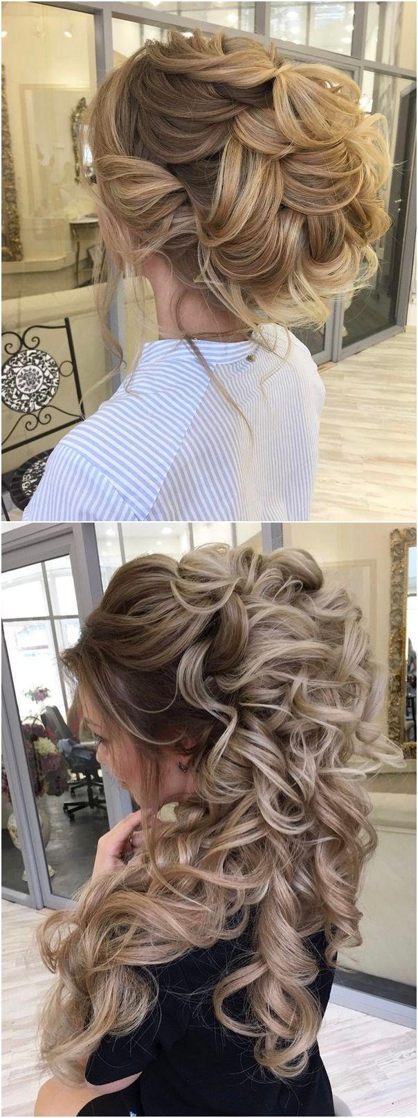 Long wedding updos and hairstyles from Elstile #weddings #weddingideas #hairstyles / http://www.deerpearlflowers.com/new-long-wedding-hairstyles-updos/