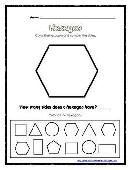 Number Names Worksheets pentagon hexagon heptagon octagon : 1000+ images about Shapes on Pinterest