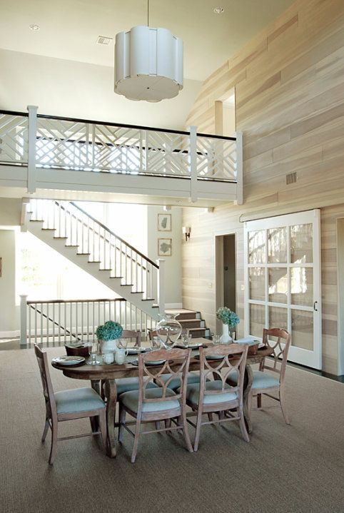 Love the stairways & that huge glass barn door ~ from House of Turquoise: Mabley Handler Interior Design