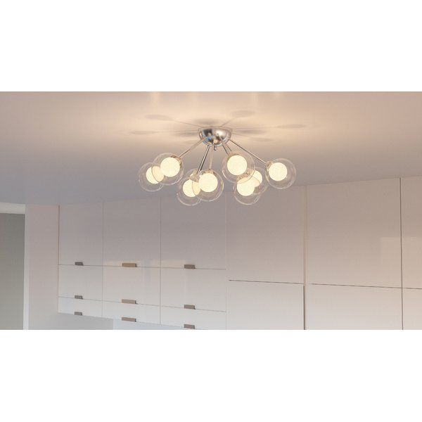 Find Yourself Mesmerized By The Vintage Beauty Of This Coletta 9 Light Semi Flush Mount Inspired By The Sputnik Designs Of Decades Past This Semi Flush Light