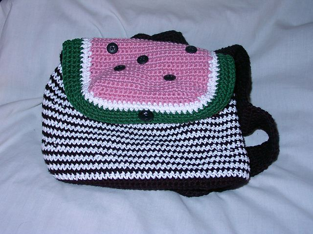 emorey's Watermelon Backpack crochet bag