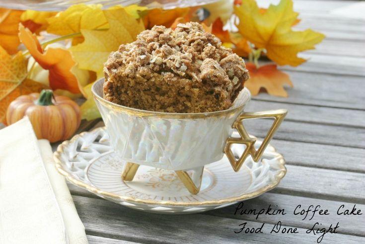 Pumpkin coffeecake Food Done Light #pumpkin #coffeecake