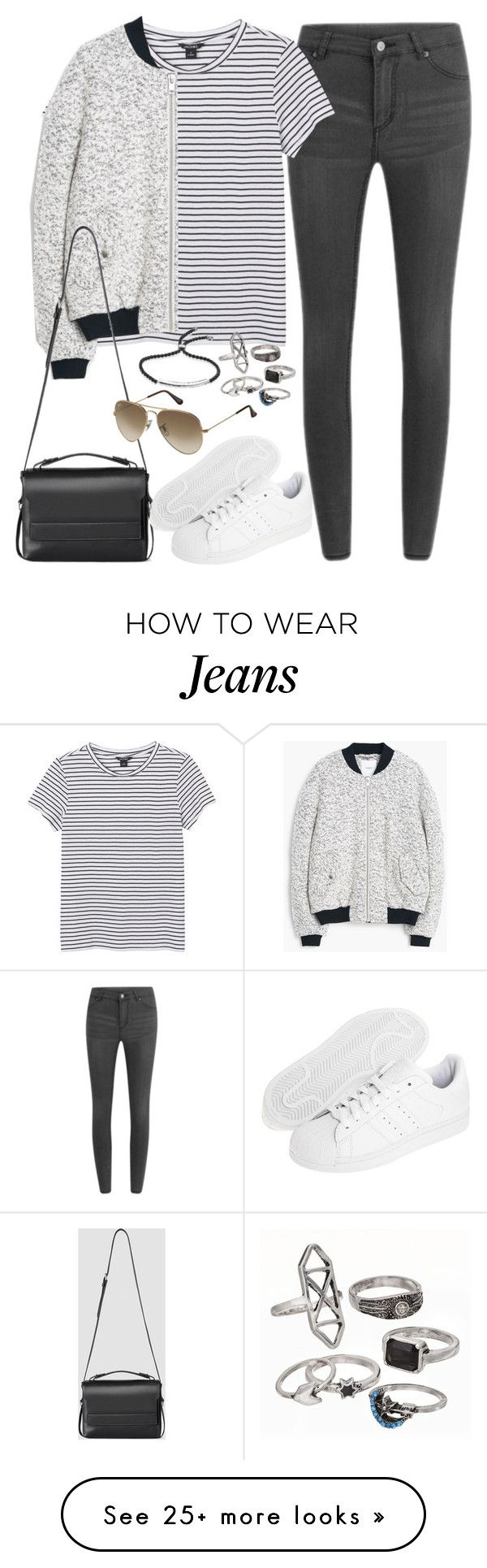 """Untitled#3733"" by fashionnfacts on Polyvore featuring Cheap Monday, Monki, MANGO, AllSaints, adidas Originals, Ray-Ban, Mudd and Monica Vinader"