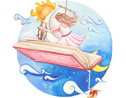 """Check out new work on my @Behance portfolio: """"Flying book""""…"""