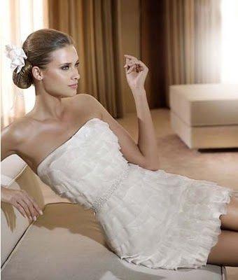 elegante: Wedding Dressses, Chiffon Wedding Dresses, Receptions Dresses, Shorts Dresses, White Beaches, Tiered Wedding Dresses, Rehear Dinners, Wedding Dresses Style, Beaches Wedding Dresses