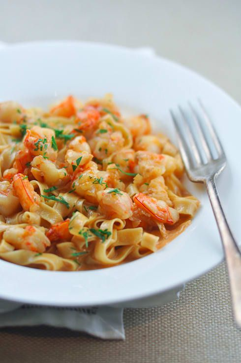 Things that I will never, ever get tired of: Shrimp. Pasta. Shrimp pasta. Get the recipe.