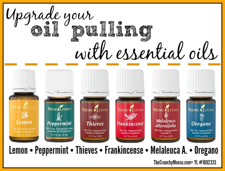 Upgrade your oil pulling with essential oils - thecrunchymoose.com