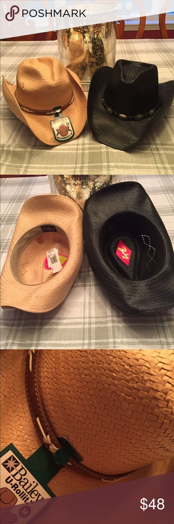 New western bailey hats M Beautiful and comfortable Bailey hats one w/ tags available in tan or black bailey Accessories Hats