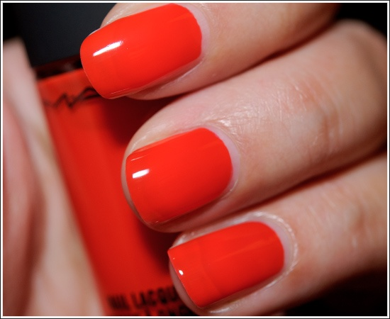 MAC Kid Orange Nail Lacquer    i think i have this color but i love this color