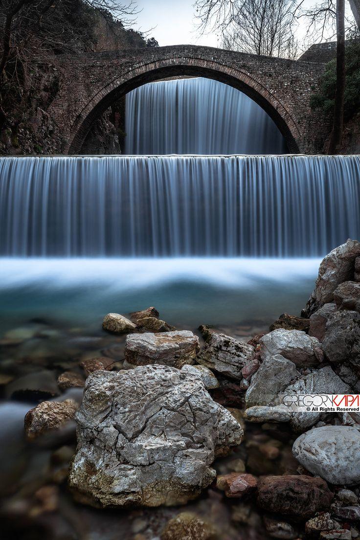 Beautiful waterfalls in Greece