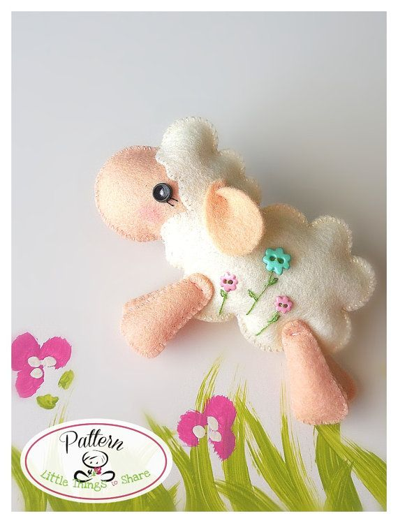 Jumping Sheep PDF sewing pattern-DIY-Felt by LittleThingsToShare