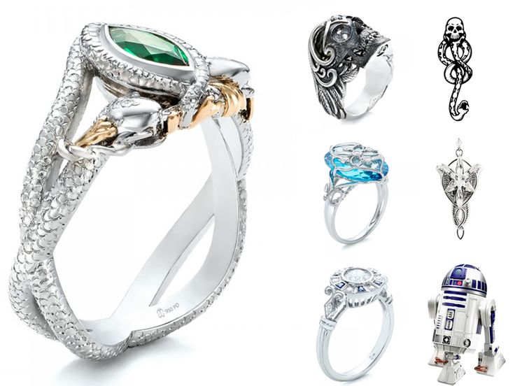 Rings gone adorkable: let's scheme about custom fandom rings with Joseph Jewelry http://offbeatbride.com/2015/03/custom-ring-dreams