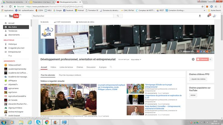 Chaîne YouTube (PPO)