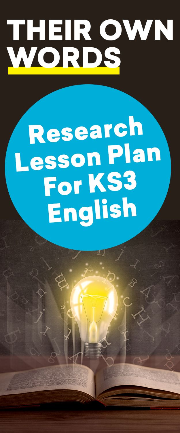 16 best ks3 english activities ideas lesson plans and resources their own words research lesson plan for ks3 english urtaz Choice Image