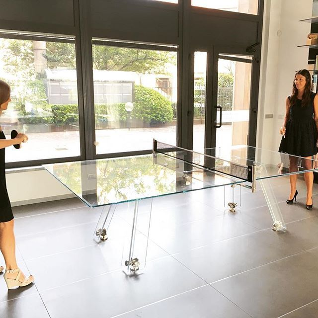 A summer shot. IMPATIA's challenge - marketing Vs admin. 🏓💪🏻 #pingpong #tennistable #womens #girls #italians #design #madeinitaly #office #interiors #interiordesign #teambuilding #gaming #gametable #gameroom #italianbeauty #crystal #table #furniture #luxury #love #loveit #tagsforlike #instadesign #instacool #dubai #miami #nyc #lasvegas #london #paris