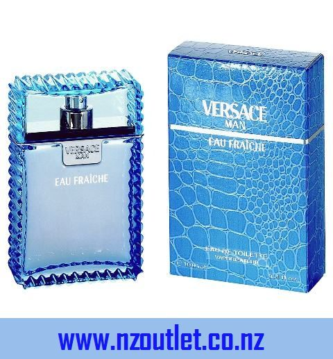Versace Man by Versace,Eau Fraiche Eau De Toilette Spray (Blue) for Men: This new Versace Man version is fresher and more aquatic. While the original Versace Man had a certain Latino vibe to it due to tobacco note in its oriental surroundings, Eau Fraiche has a Mediterranean quality with some woody notes. Top notes include lemon, bergamot, rosewood, and rose. Heart notes feature cedar, tarragon, sage and pepper. Base notes are amber, musk, saffron and woody notes. Versace Eau Fraiche was…