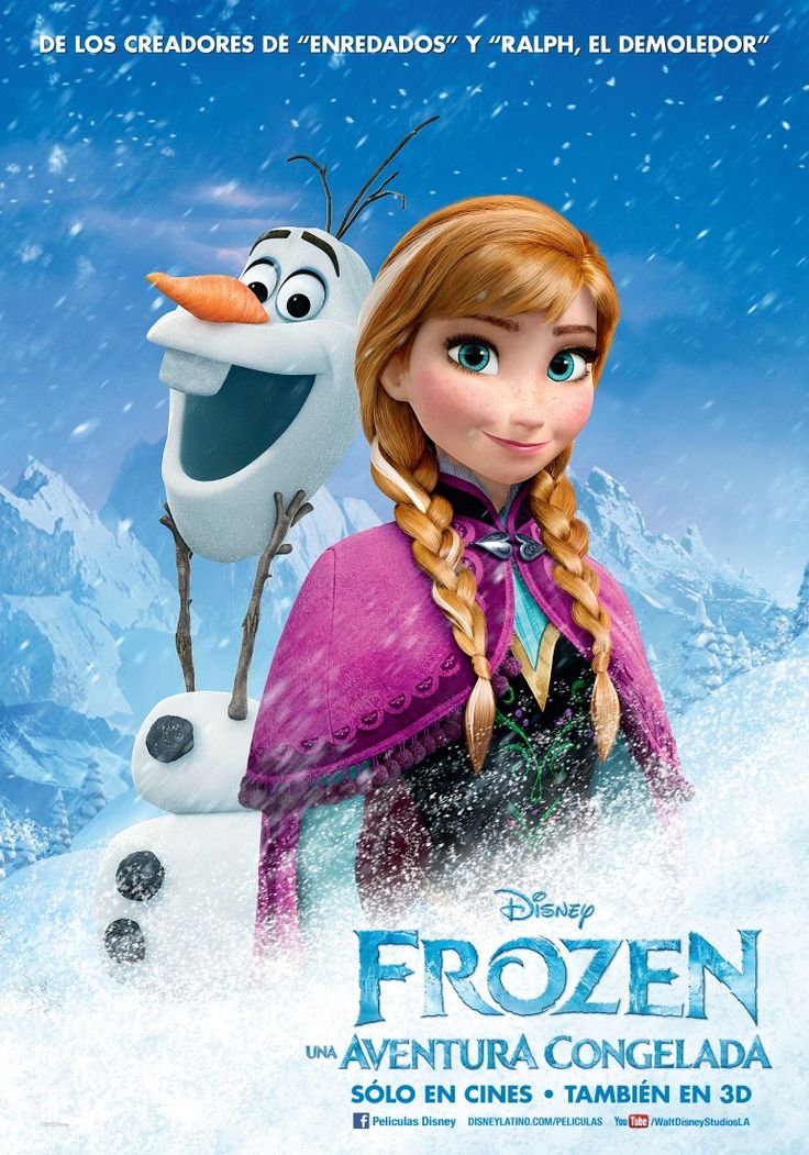 Frozen: Una Aventura Congelada | Poster: Frozen 2013, Movie Posters, Character Posters, Picture-Black Posters, Posters 2013, Frozen Posters, Frozen Movie, Disney Movie, Disney Frozen