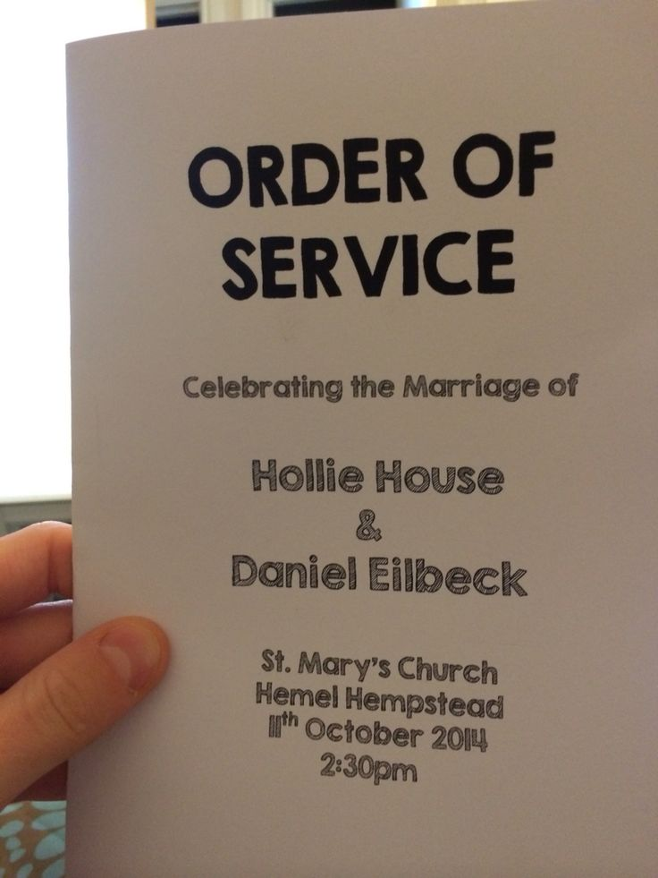 Our order of service sheets I designed and made to match our invitations.