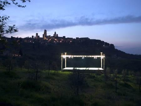 Cai Guo-Qiang, Stage, 2006, Site specific project. San Gimignano, 2006.