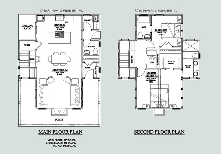 Small house plan 1400 square feet with built in bed with for 1400 square foot house plans